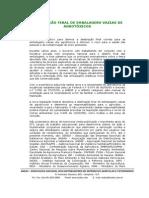 Manual Destinação Final de Embalagens Vazias de Agrotóxicos