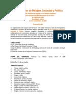 Primera Circular Del XXX Congreso de Religión Guadalajara 2015