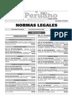 Normas Legales, jueves 26 de noviembre del 2015