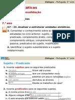 PPT - funções sintáticas