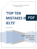 Top Ten Mistakes in IELTS