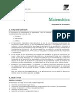 Matemática Programa