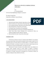 """""""TRASTORNO POR DÉFICIT DE ATENCIÓN Y/O HIPERACTIVIDAD (TDAH)"""". Abordaje multidisciplinar."""