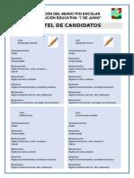 Cartel de Candidatos