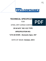 Technische Beschreibung Seecontainer