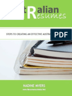Nadine Myers - Australian Resumes Steps to Creating an Effective Australian Resume (A