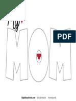 MY MOM Self Esteem Poster