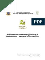 Analisis Socioeconómico Pimienta Dioica