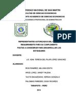 REPRESENTANTES AUTORIZADOS DEL ISO 9000 REQUERIMIENTO PARA SU CUMPLIMIENTO PAUTAS A CONSIDERAR PARA DESARROLLAR LOS ESTÁNDARES