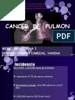 CANCER de PULMON Exposicion Yanina