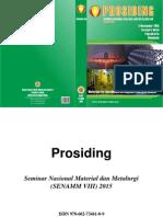 Prosiding Seminar Nasional Material Dan Metalurgi VIII