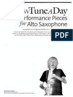 Ned Bennett - A New Tune a Day. Performance Pieces for Alto Saxophone 2