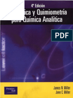 Estadistica y Quimiometria Para Quimica Analitica 2005