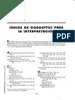 Manual y guia de interpretación de la técnica de dibujo proyectivo H-T- P Indice de conceptos para la interpretacion