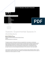 Xpaces Experimental Spaces in Architecture