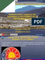 PERSPECTIVAS Y AVANCES  DEL DESARROLLO GEOTÉRMICO EN LA REGIÓN DE MOQUEGUA