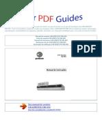 Manual Do Usuário GRADIENTE DR 850 P