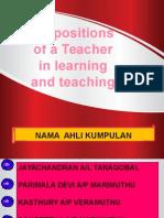 Disposisi Guru Dalam Belajar Mengajar