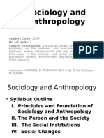Lecture on sociology and anthropolocy