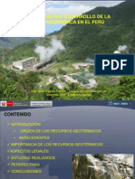 PERSPECTIVAS DEL DESARROLLO DE LA ENERGÍA GEOTÉRMICA EN EL PERÚ