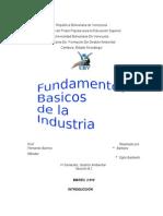 Fundamentos de La Industria