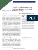 Importancia Del Juego Para La Salud Mental y El Vinculo Entre Padres e Hijos