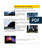 Efectos Contaminantes de Algunos Combustibles