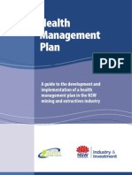 Guide to the Development and Implementation of a Health Management Plan