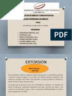 EXTORSIÓN , USURPACIÓN Y DAÑOS