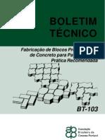 BT-103 Fabricacao Blocos Pav PR