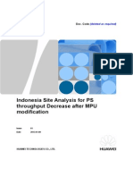 Indonesia Site Analysis for PS Throughput Decrease After MPU Modification