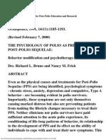 Bruno Frick Psychology of Polio