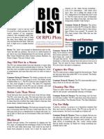 Big List of RPG Plots