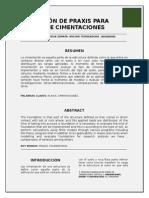 Aplicación de Praxis Para Diseño de Cimentaciones