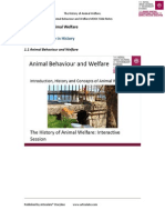 The History of Animal Welfare