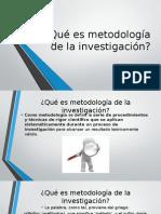 Qué Es Metodología de La Investigación