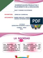 Diapositiva de Las Sociededad y Sus Formas Societarias.