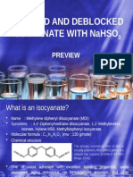 Blocked and Deblocked Isocyanate With Sodium Bisulfite