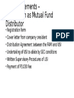 Mutual Fund Distribution Registration