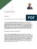 Profile Summary - BVR Mohan Reddy - April 2015