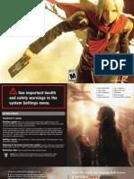 Final Fantasy Type-0 SOFTWARE MANUAL