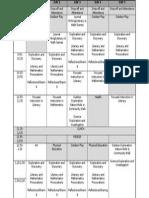 room 128s week plan