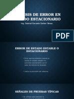 Análisis de Error en Estado Estacionario