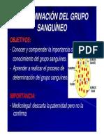 Determinacion Del Grupo Sanguineo