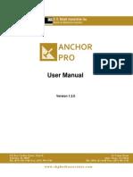 AnchorPro Manual