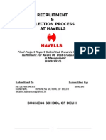 2600. AN ANALYSIS OF RECRUITMENT AND SELECTION PROCESS AT HAVELLS.doc