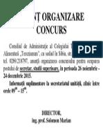 Anunt organizare concurs secretar.pdf