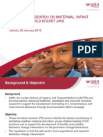 1 FORMATIVE RESEARCH  ON MATERNAL , INFANT  AND YOUNG  CHILD IN EAST JAVA