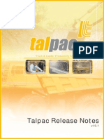 Talpac10 Release Notes