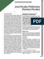 Regímenes Fiscales Preferentes (Paraísos Fiscales)